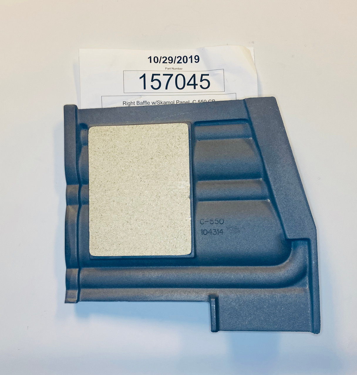 Jotul C550 RH Baffle Plate 157045 top side