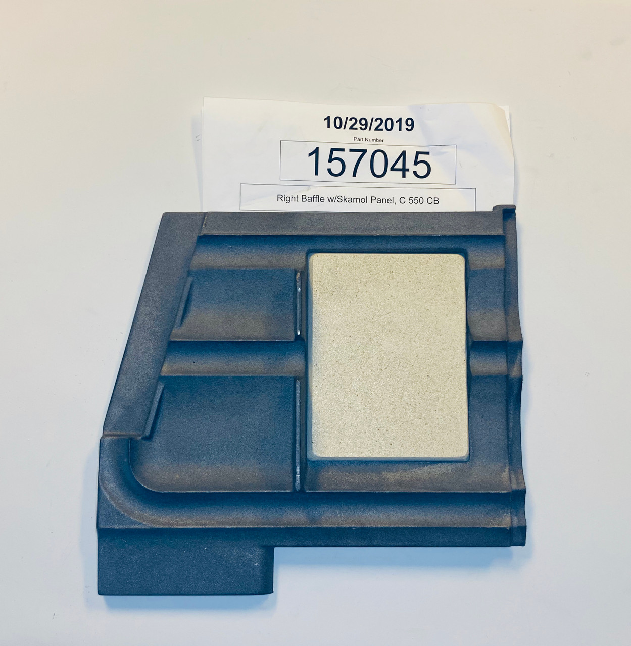 Jotul C550 RH Baffle Plate 157045 bottom