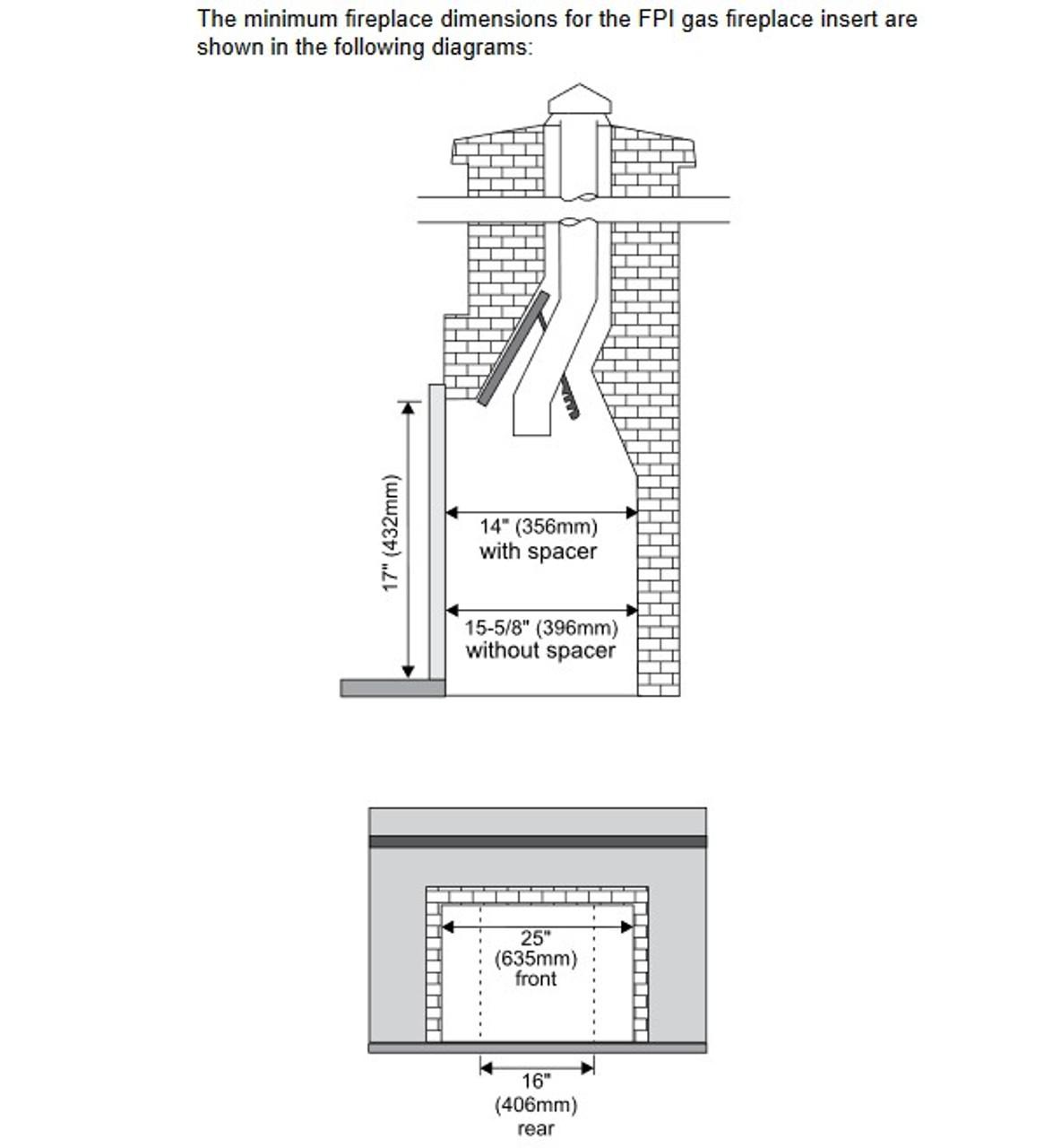 Regency L234 Small Gas Insert Rocky Mountain Stove Fireplace