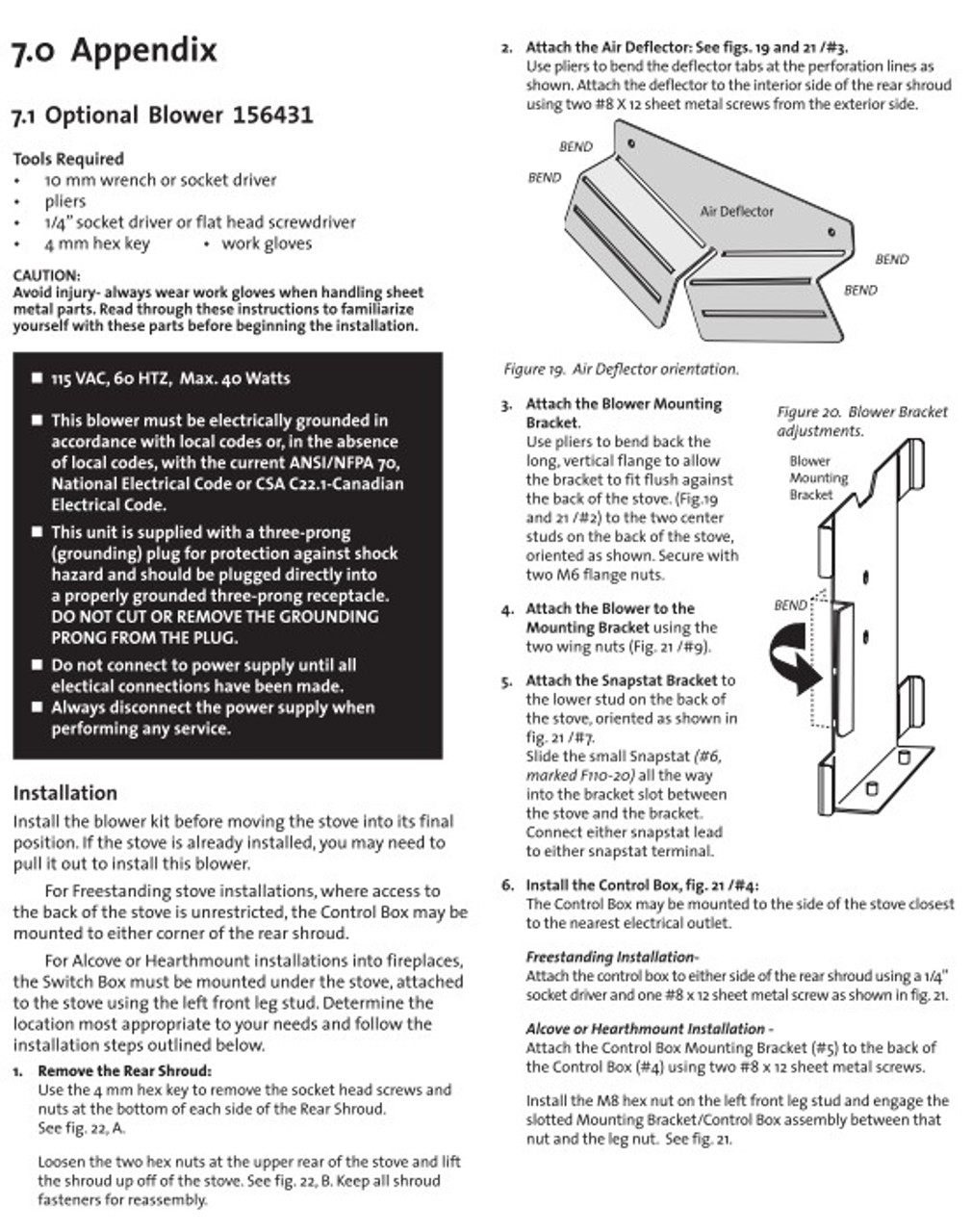 Jotul 156431 Blower Kit