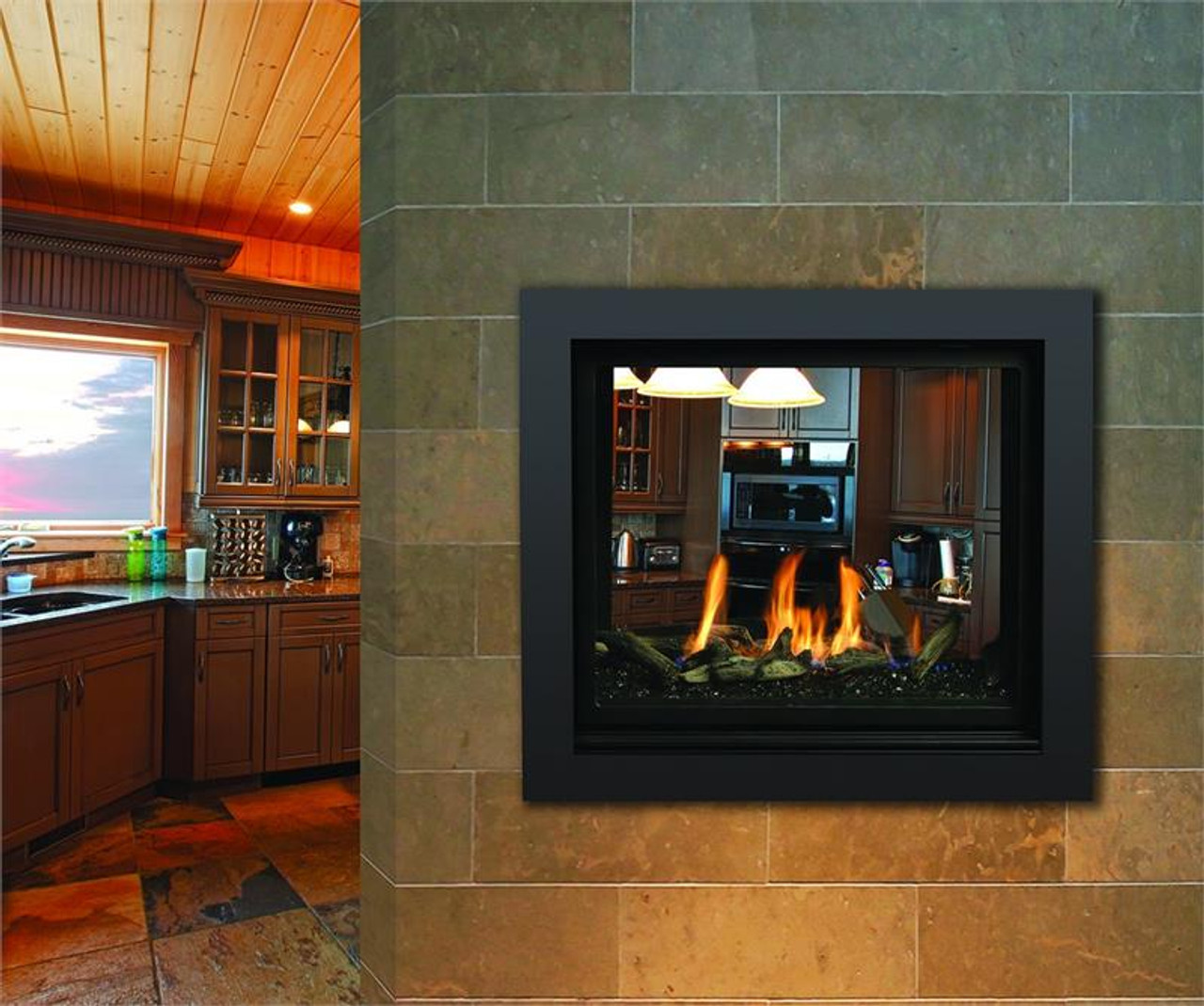 Marquis Bentley See-Through Gas Fireplace