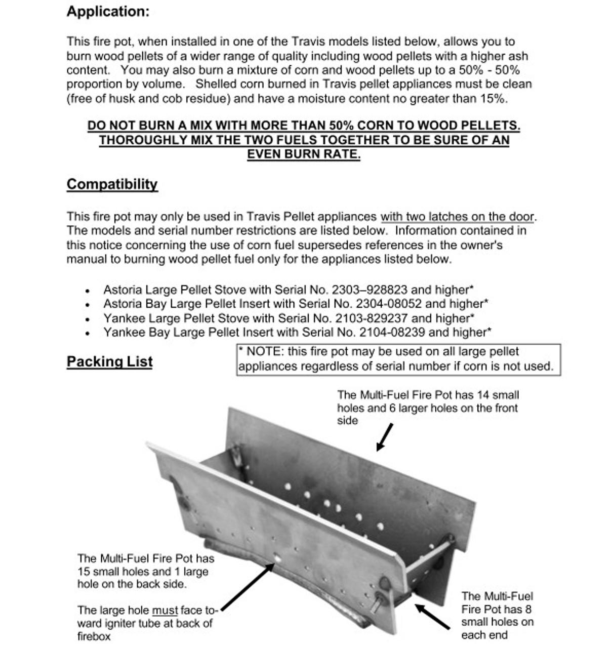 Lopi / Avalon Pellet Firepot / Burn Pot 250-00128