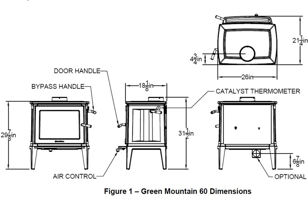 Hearthstone Green Mountain 60 Wood Stove