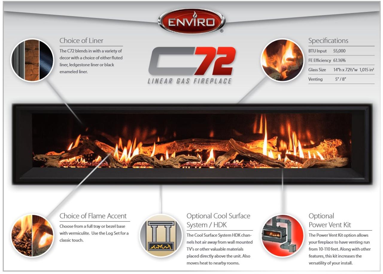 Enviro C72 Linear Gas Fireplace - Rocky Mountain Stove ...