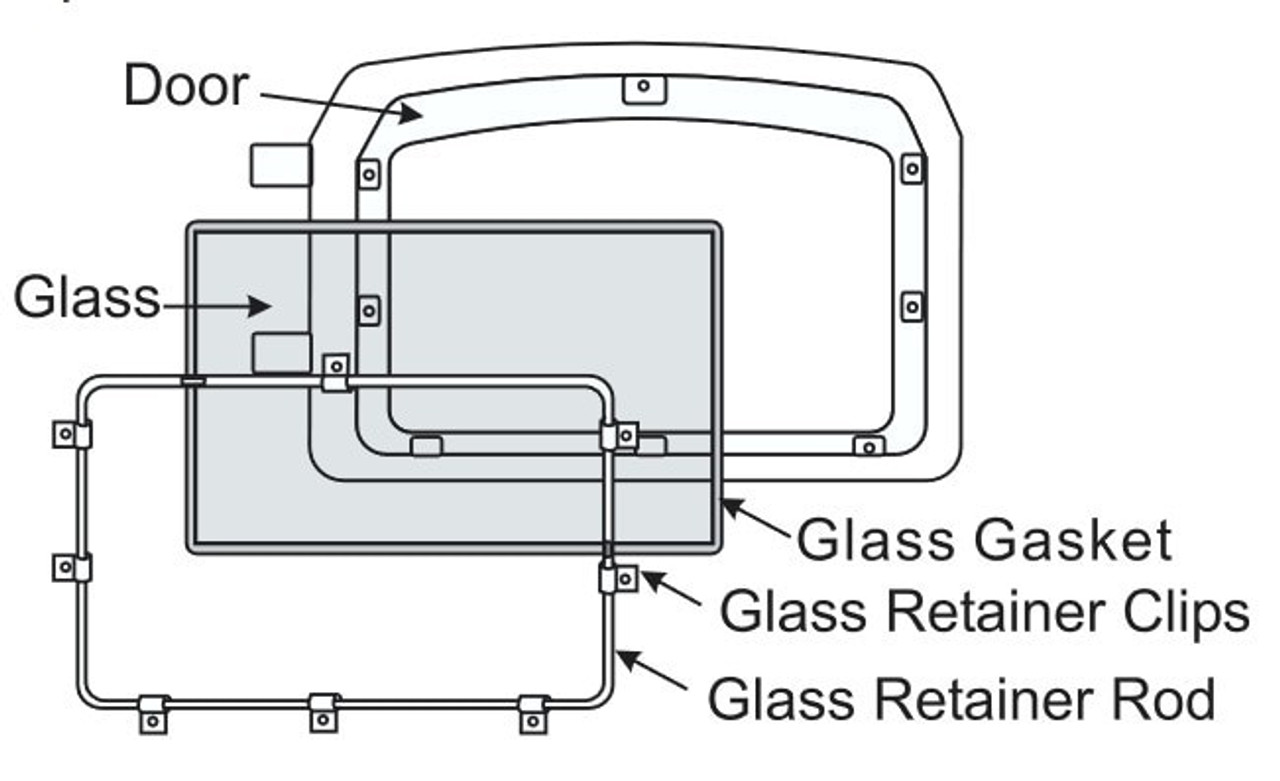 Regency Large Wood Stove Glass w/Gasket (846-304)