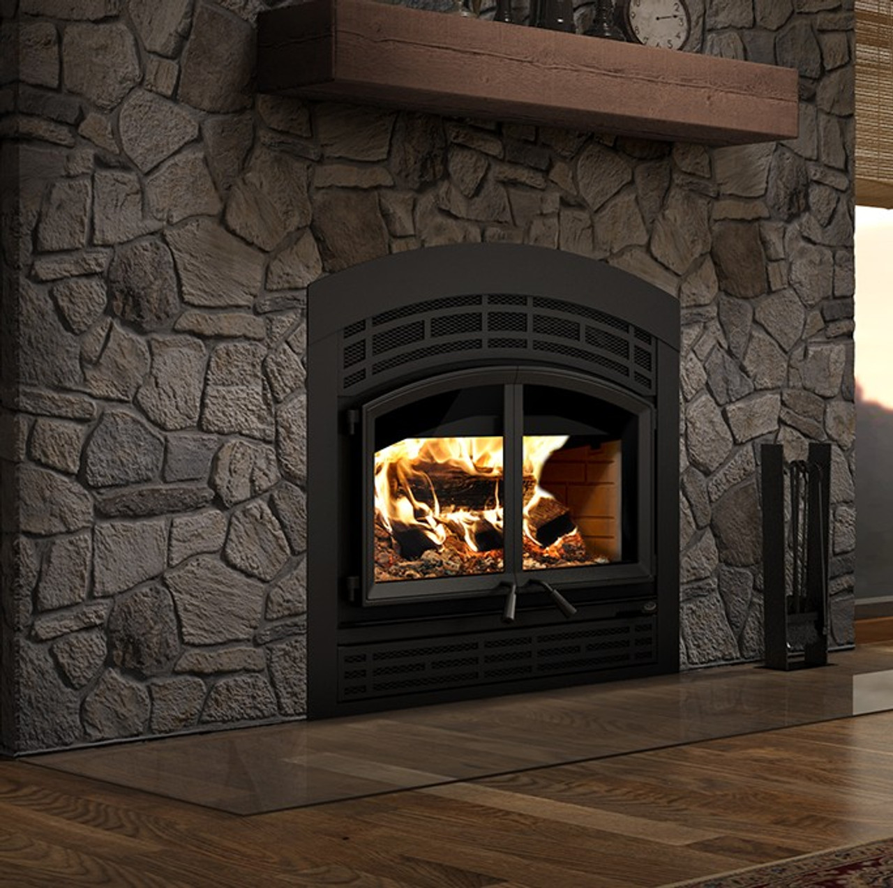 Valcourt FP15A Waterloo - Arched Mission Wood Fireplace