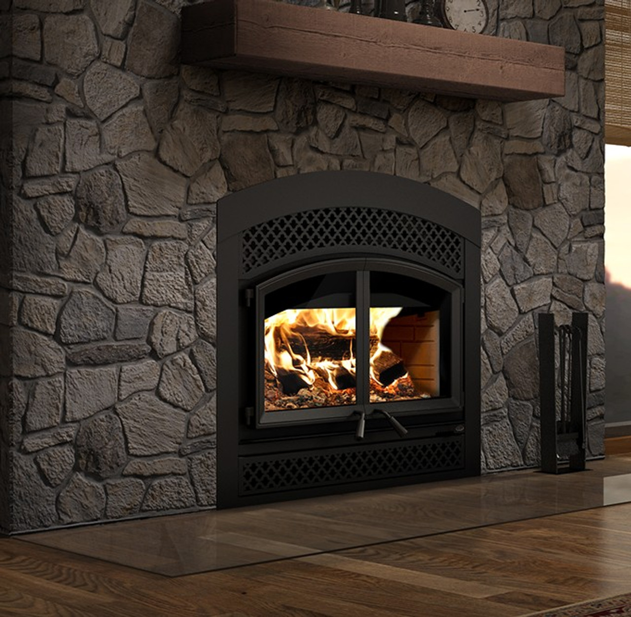Valcourt FP15A Waterloo - Arched Arabesque Wood Fireplace
