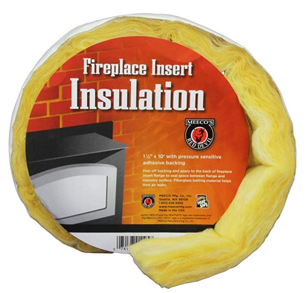 Fireplace Insert Surround Insulation