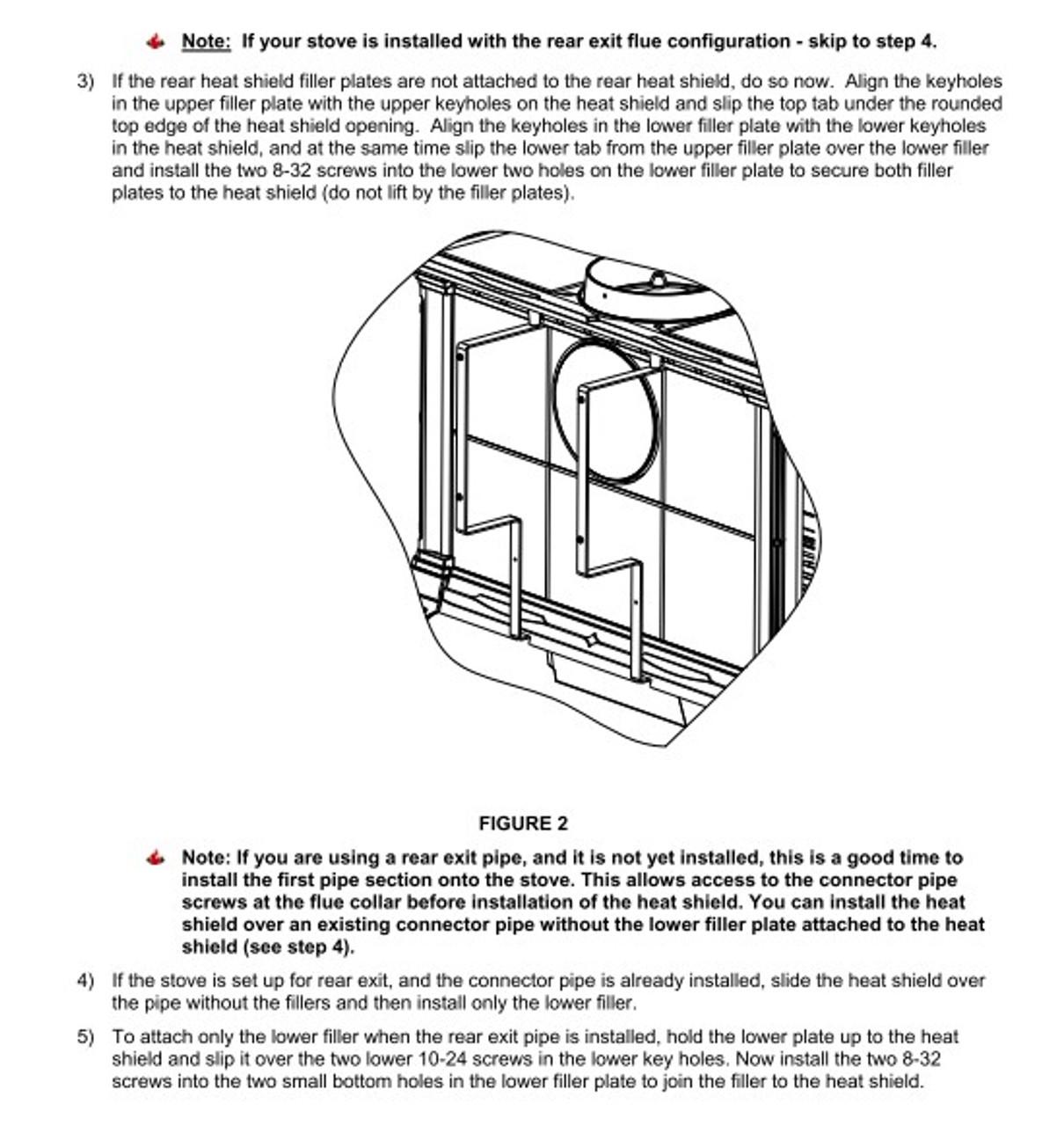 HearthStone Equinox Rear Heat Sheild