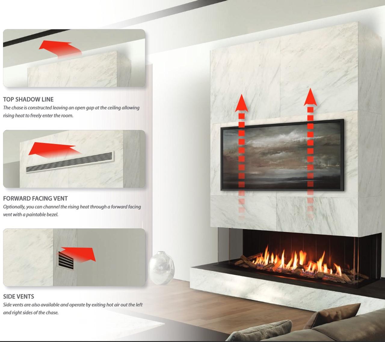 Urbana U30 Luxury Gas Fireplace heat dump