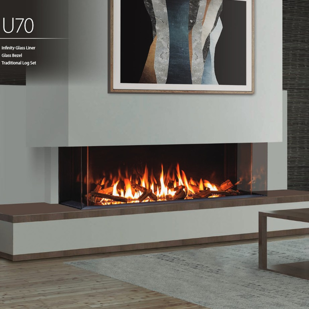 Urbana U70 Luxury Gas Fireplace