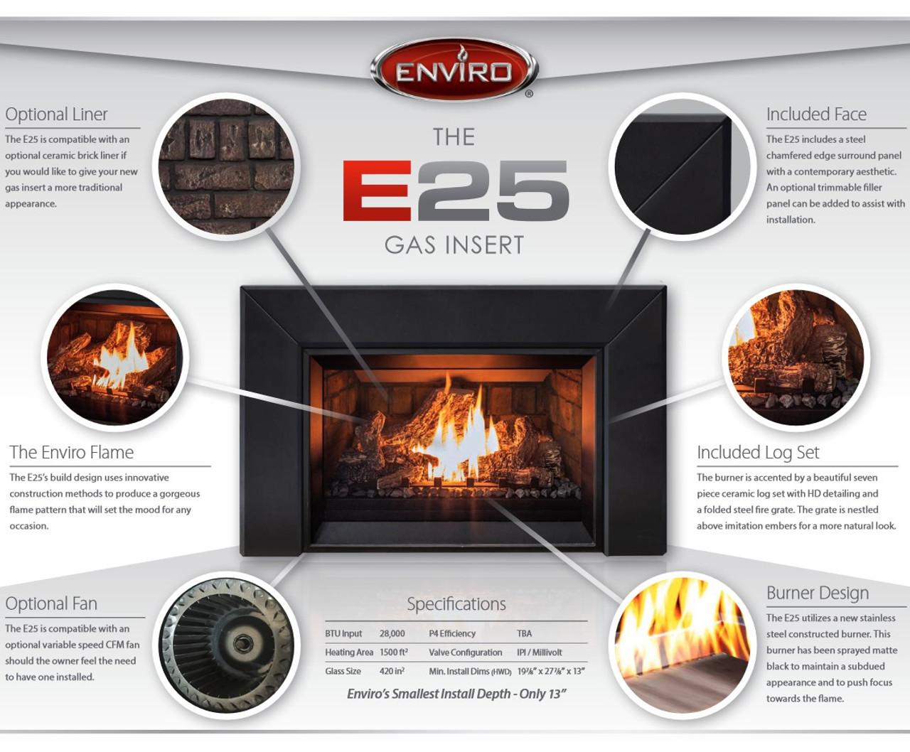 Enviro E25 Gas Fireplace Insert
