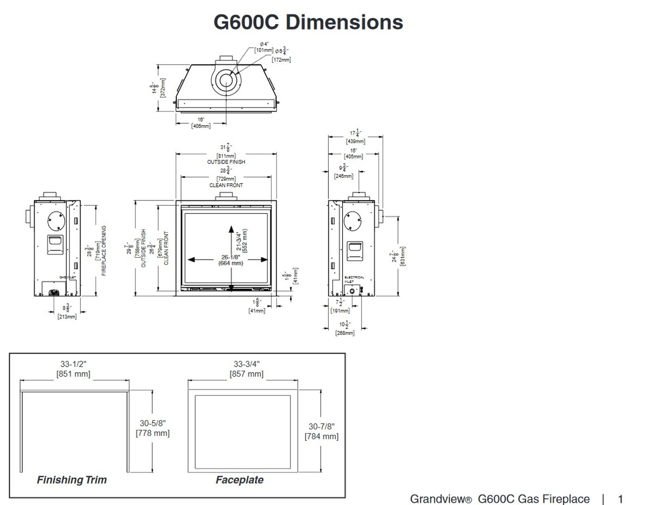 Regency Grandview G600EC Gas Fireplace