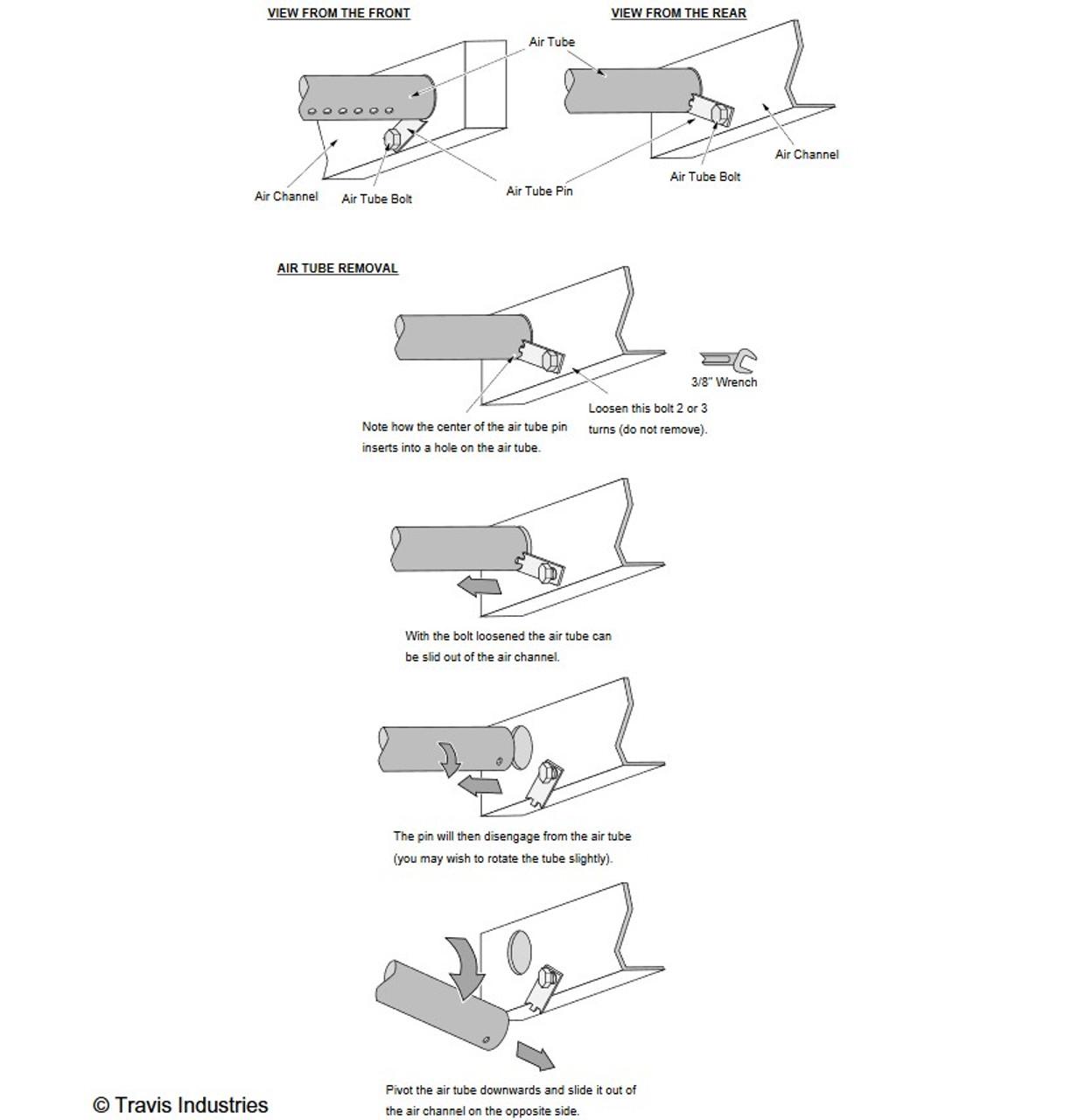 Flush Wood Insert Air Tube Kit