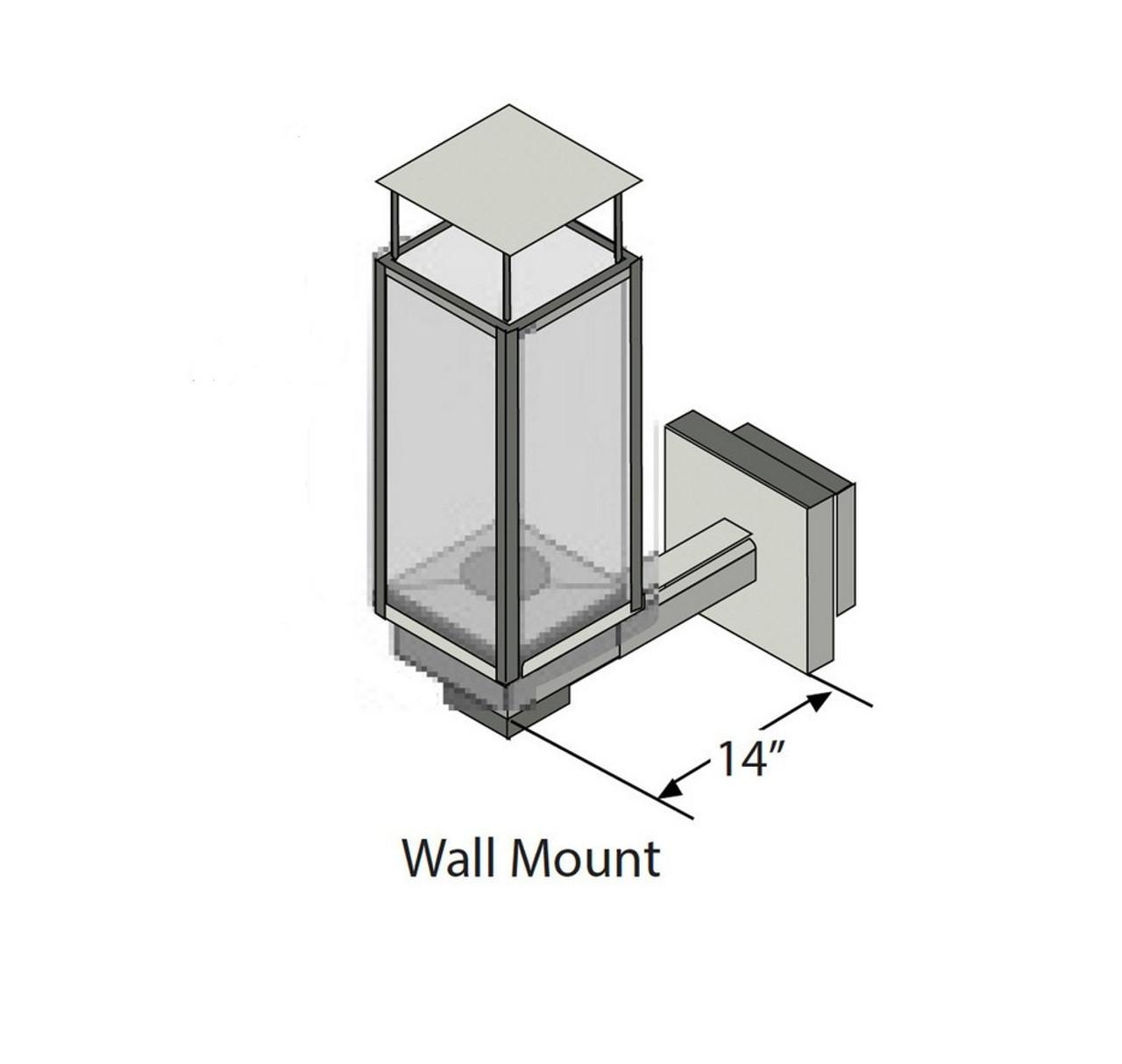 Tempest Lantern Wall Mount