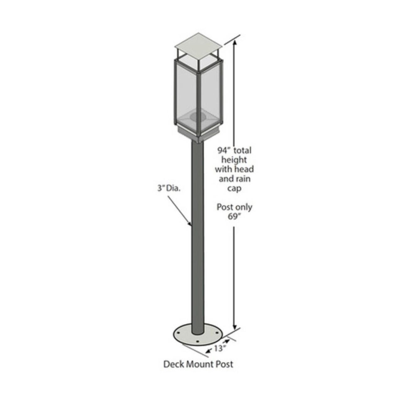 Tempest Torch Deck Post