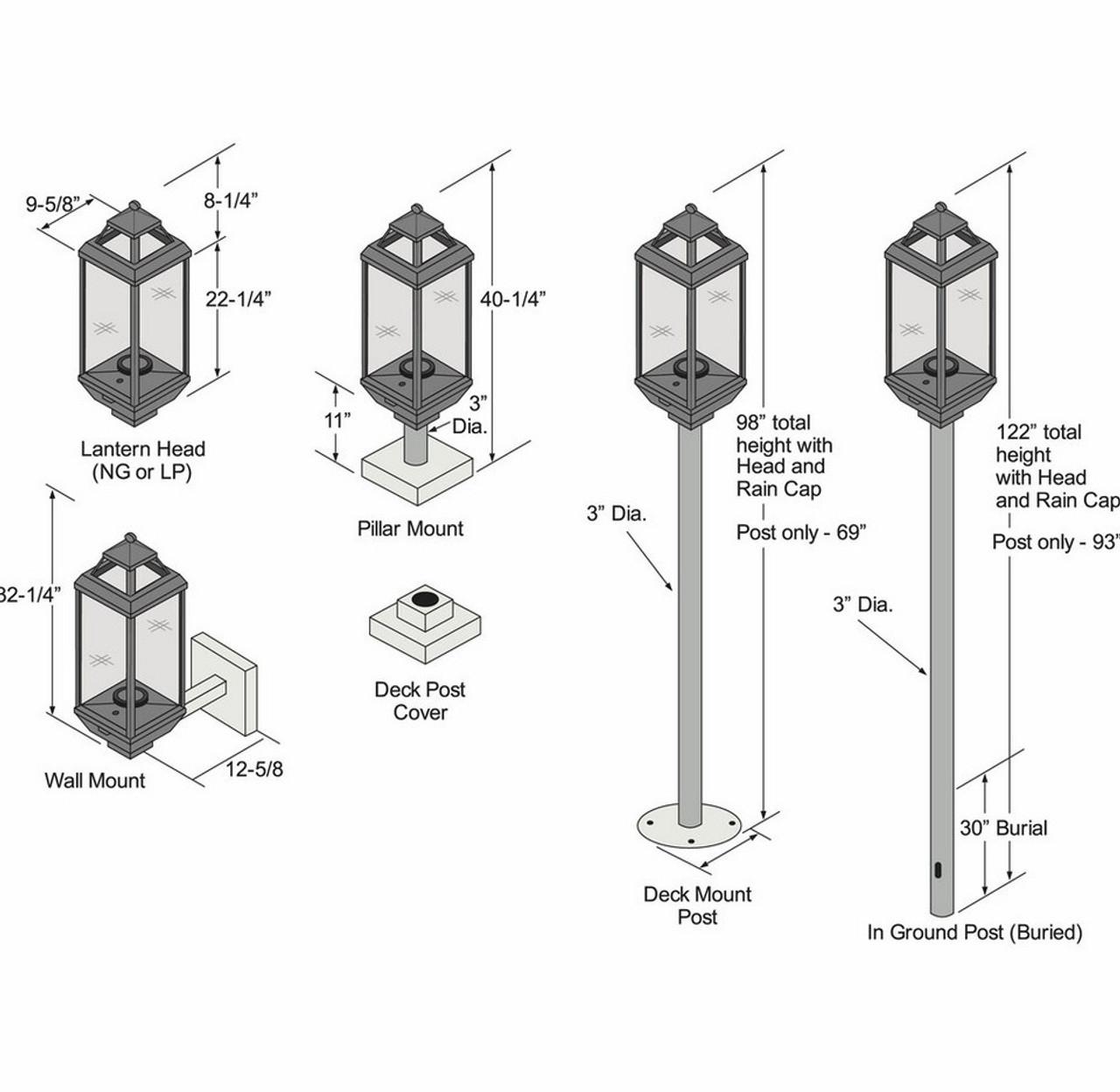 Tempest Lantern w/Manual Piezo Ignition