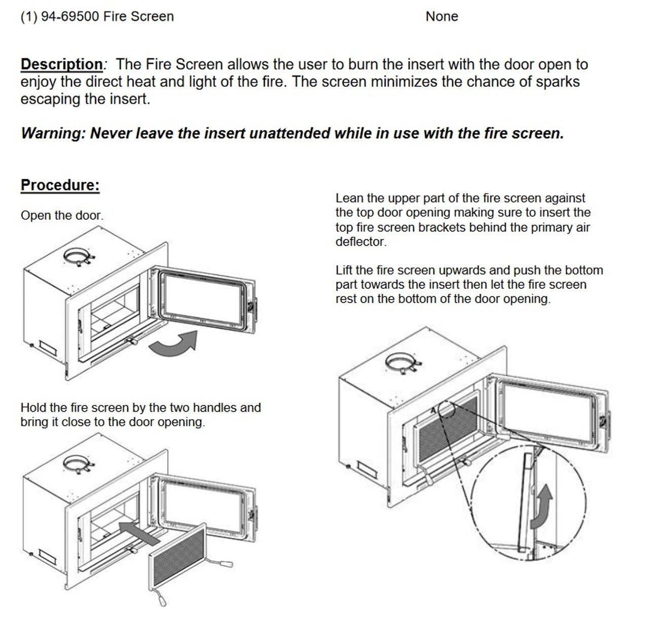 GMI-70 Wood Insert Spark Screen (94-69500)