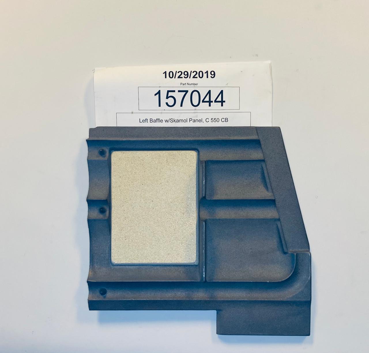 Jotul C550 LH Baffle Plate 157044  bottom side
