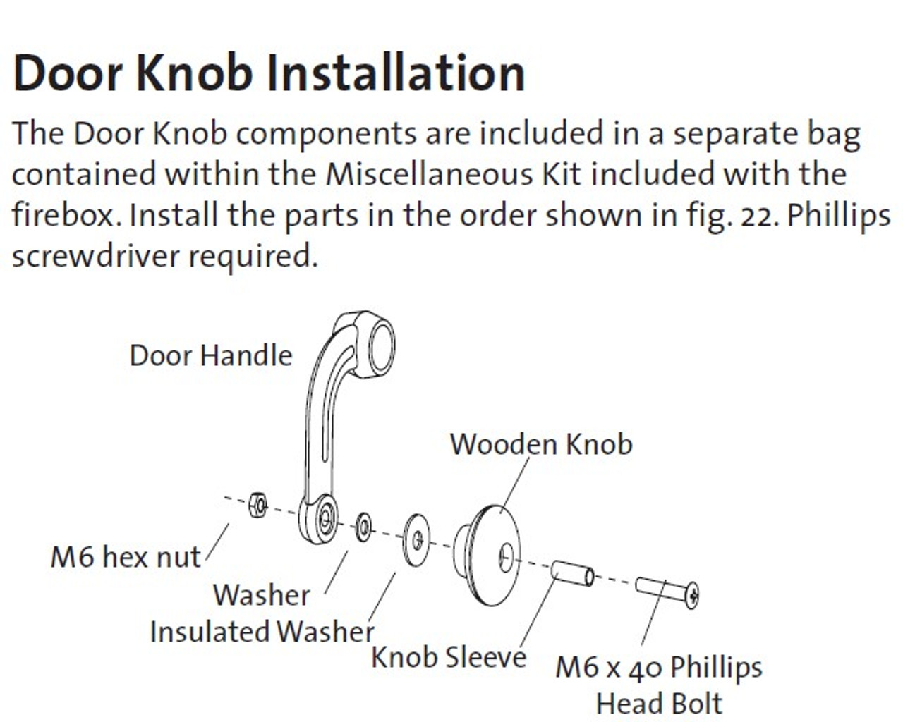 Jotul Wooden Knob Kit 151991