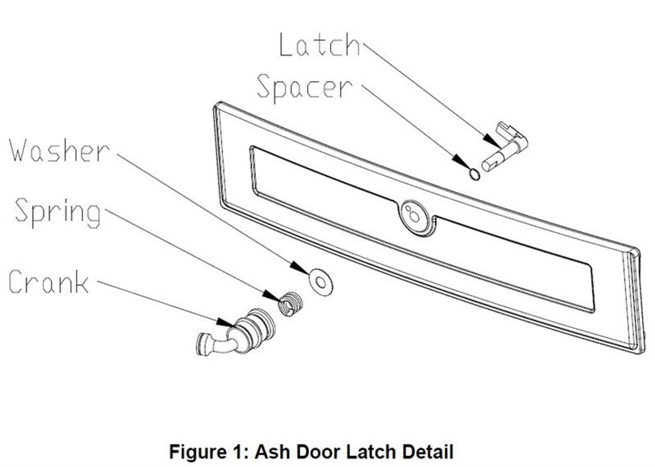 Bennington Ash Door Latch 93-73506