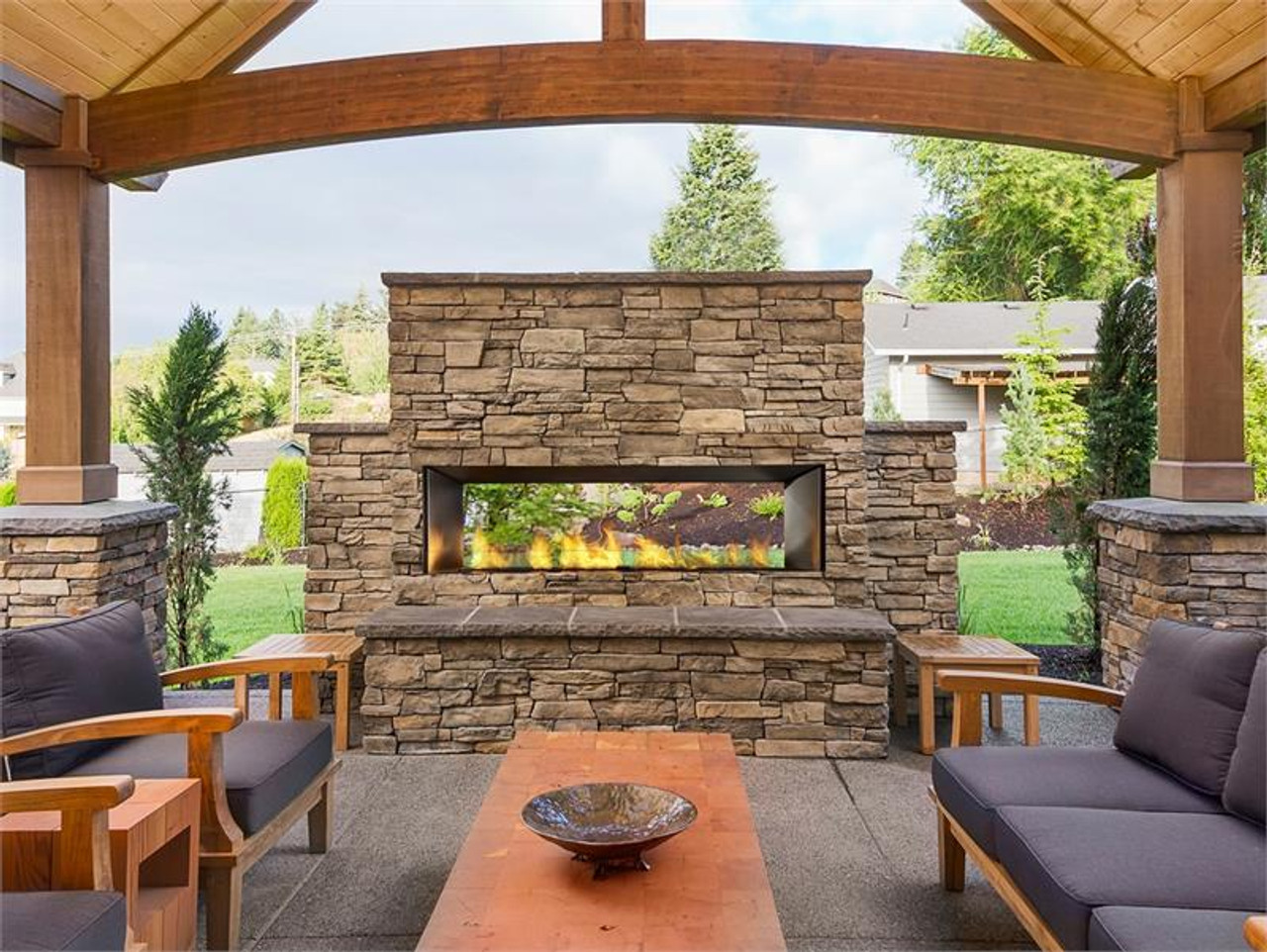 "HZO60 60"" Outdoor Gas Fireplace"