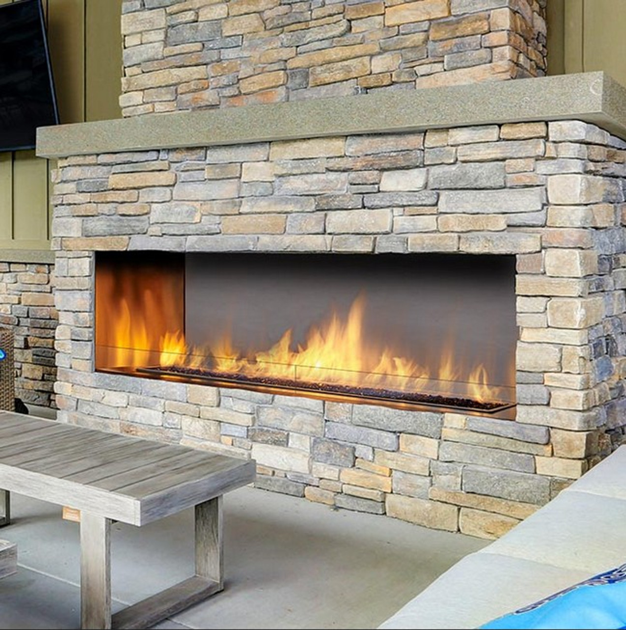 60 Outdoor Linear Gas Fireplace Rocky Mountain Stove Fireplace