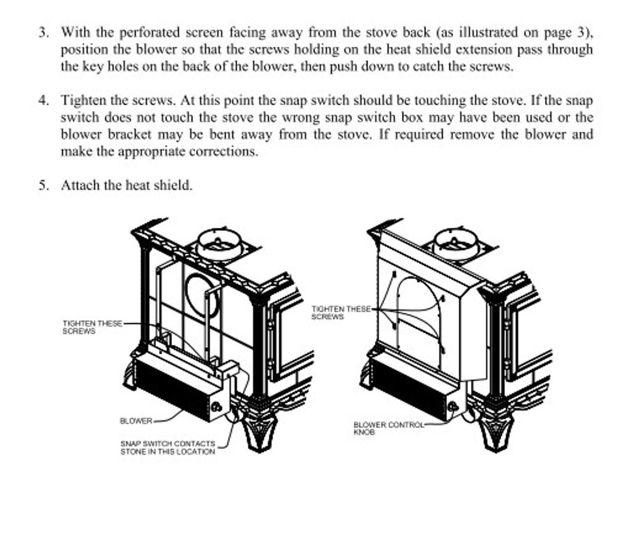 hearthstone blower kit #90-57210