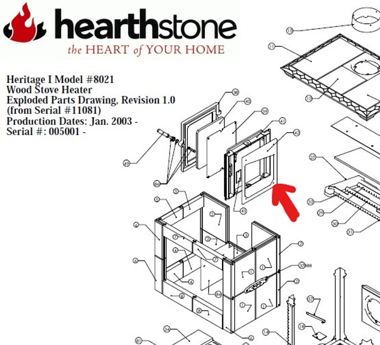 Hearthstone 8021 Inner Firebox Side Casting