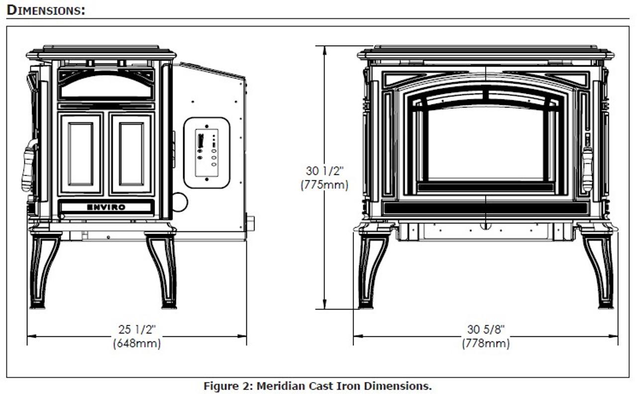 Enviro Meridian Cast Pellet Stove