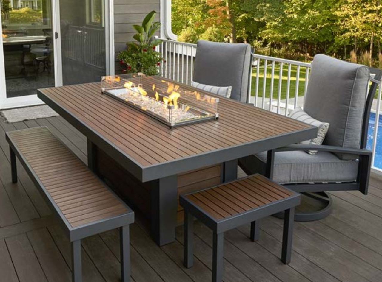 Kenwood Dinning Firepit Table Rocky Mountain Stove Fireplace