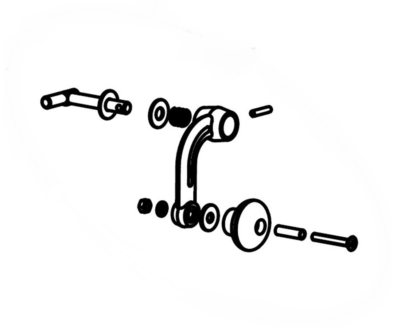 Jotul 153701 Nickel Door Handle Kit