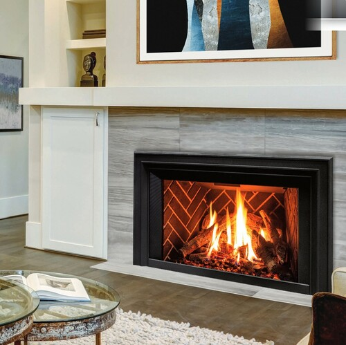 Enviro E33 Medium Gas Insert w/ cast Iron surround