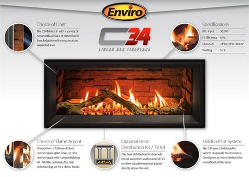 Enviro C34 Linear Gas Fireplace