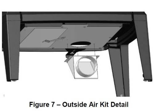 Hearthstone 96-53400 Out-Side Air Kit