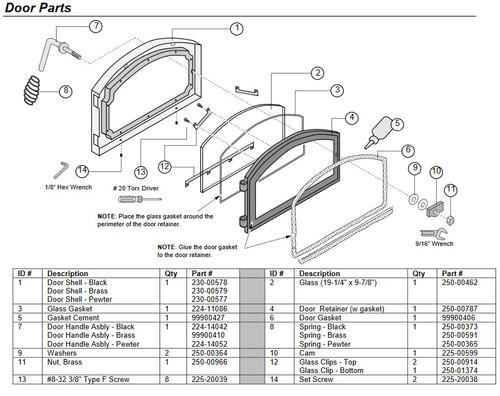 Lopi 250-00914 Top Glass Clip