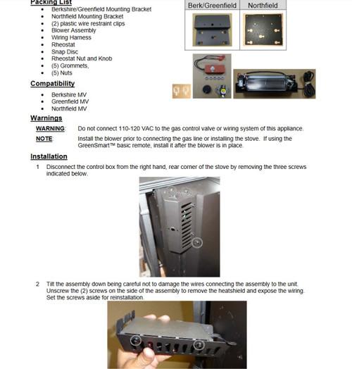 Lopi 99000195 MV Stove Blower Kit