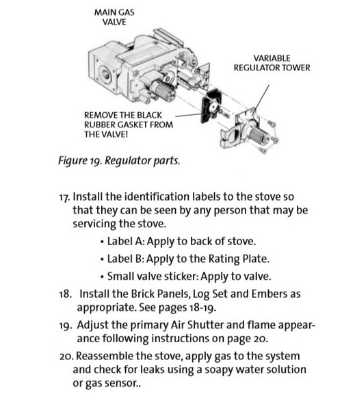 Jotul GF 600 DVII - LP to NG Conversion Kit