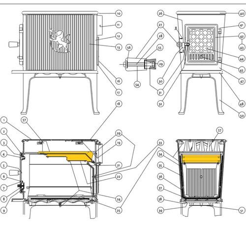 Jotul  F602 V2 Air Chamber (Baffle)