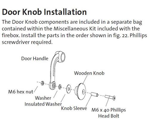 Jotul Wooden Knob Kit 151991