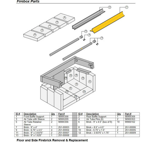Avalon Front Y Baffle Support 98900308