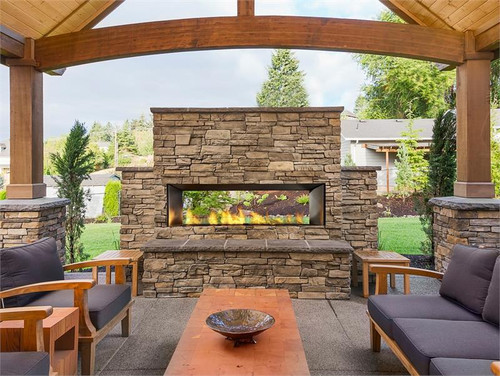 "60"" Outdoor Linear Gas Fireplace"