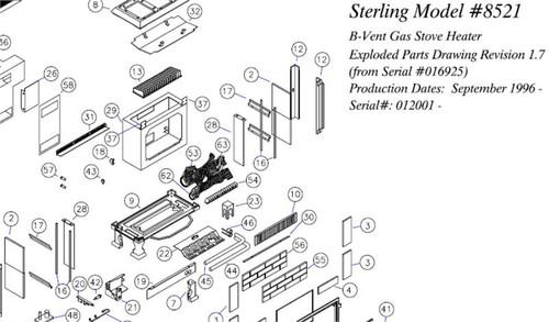 Sterling G DV/BV Rear Burner 7211-202
