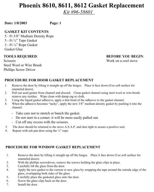 HearthStone Phoenix Gasket Kit 96-58601