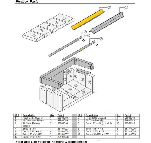 Avalon Rear Y-Baffle Support 98900309