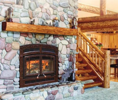 Hearthstone WFP-100 Montgomery Wood Fireplace in Brown Enamel