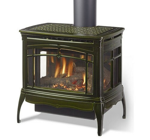 HearthStone Waitsfield DX Gas Stove in Basil Green