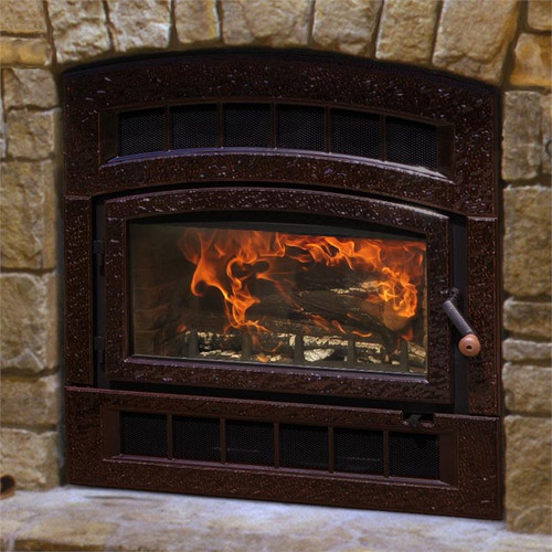 HearthStone WFP-75 Montgomery Wood Fireplace in Enamel Brown