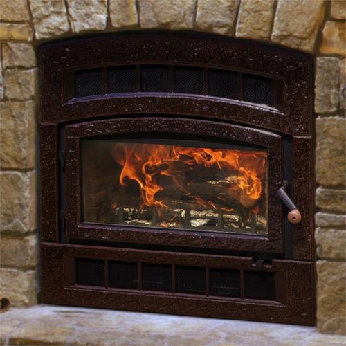 HearthStone WFP-75 Montgomery Wood Fireplace in Enamel Brown