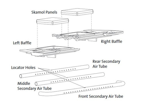 Jotul C550 Rear Secondary Air Tube (Three Tube Units)